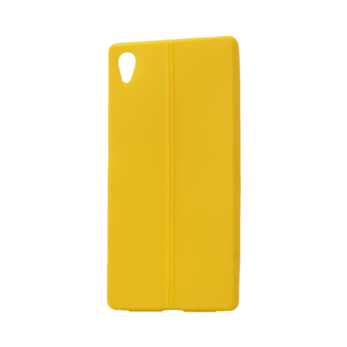 Case 4U Sony Xperia M4 Aqua Desenli Silikon Kılıf Sarı