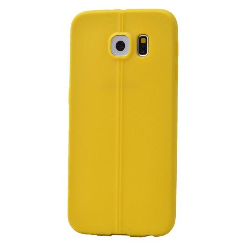 Case 4U Samsung Galaxy S6 Desenli Silikon Kılıf Sarı