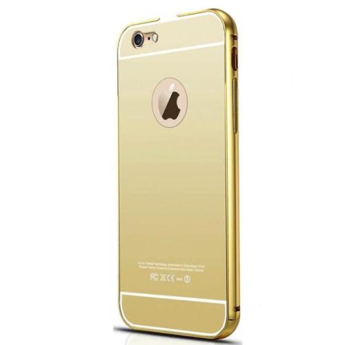 Case 4U Apple İphone 5S Aynalı Bumper Kapak Altın