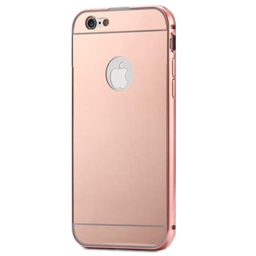 Case 4U Apple İphone 6 Aynalı Bumper Kapak Rose Gold
