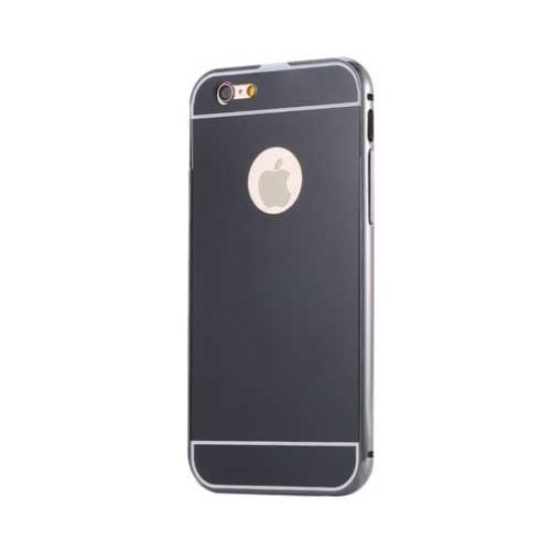 Case 4U Apple İphone 6 Aynalı Bumper Kapak Siyah