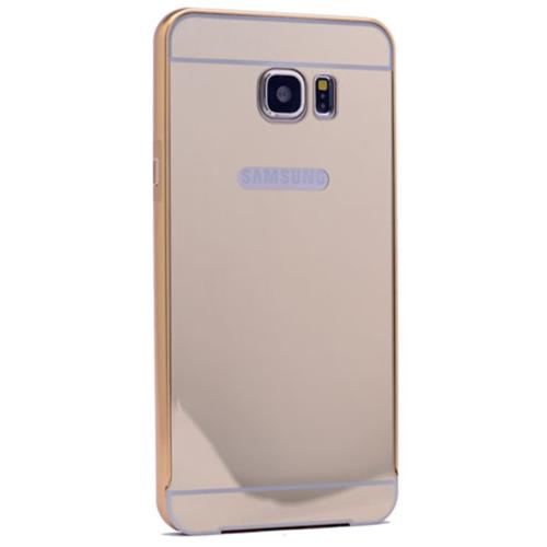 Case 4U Samsung Galaxy J7 Aynalı Bumper Kapak Altın