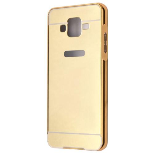 Case 4U Samsung Galaxy J5 Aynalı Bumper Kapak Altın