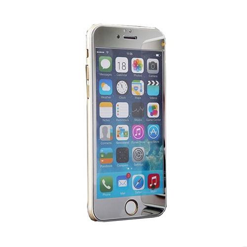 Case 4U Apple İphone 6 Aynalı Kırılmaz Ekran Koruyucu Gümüş
