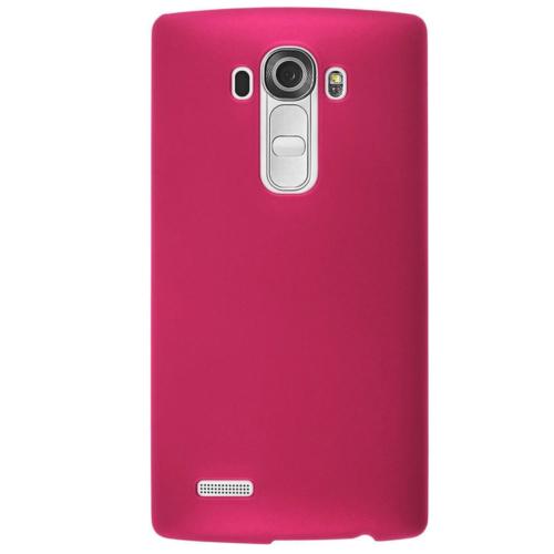 Case 4U LG G3 Pembe Rubber Arka Kapak*