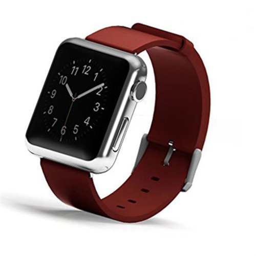 Case 4U Apple Watch 38 mm Klasik Tokalı Kırmızı Kayış