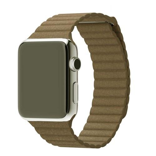 Case 4U Apple Watch 42 Mm Deri Loop Kayış Kahve