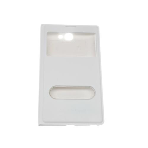 Case 4U Samsung Note 2 N7100 Pencereli Flip Cover Beyaz