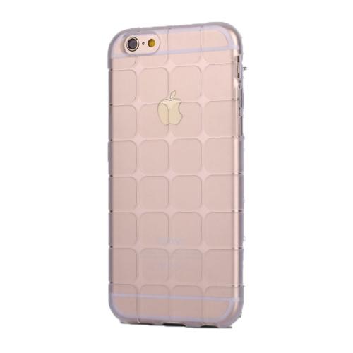 Case 4U Apple İphone 6S Kare Desenli Silikon Kılıf Şeffaf