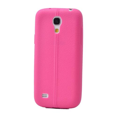 Case 4U Samsung Galaxy S4 Mini Desenli Silikon Kılıf Pembe