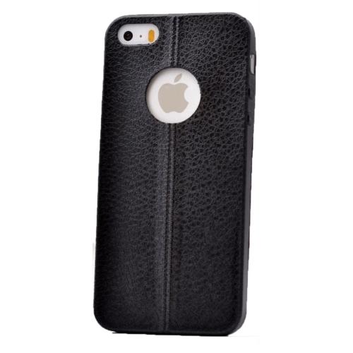 Case 4U Apple İphone 5 Parlak Desenli Silikon Kılıf Siyah