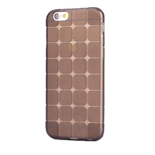 Case 4U Apple İphone 6S Plus Kare Desenli Silikon Kılıf Siyah
