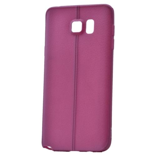 Case 4U Samsung Galaxy Note 5 Desenli Silikon Kılıf Mor
