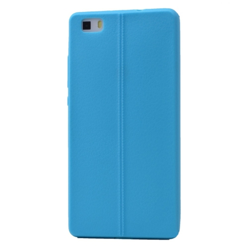 Case 4U Huawei P8 Lite Desenli Silikon Kılıf Mavi