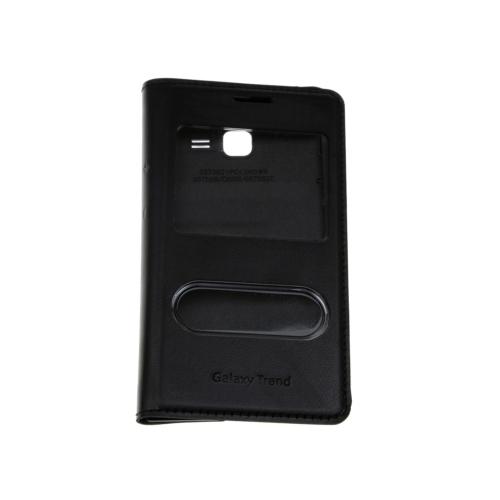 Case 4U Samsung S7390 Trend Lite Pencereli Flip Cover Siyah
