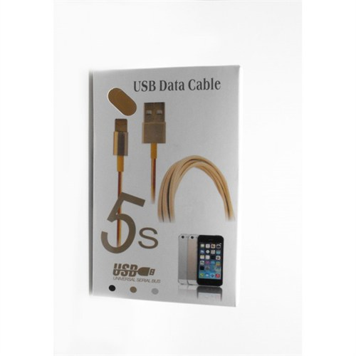 INOVAXIS IPHONE 5- 6 - 6S - 6 PLUS S - IPAD 1M DATA-SYNC/ ŞARJ KABLOSU GOLD