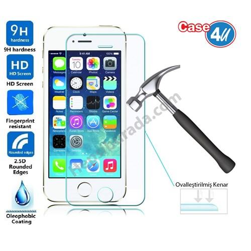 Case 4U Apple iPhone 5/5s Kırılmaz Cam Ekran Koruyucu