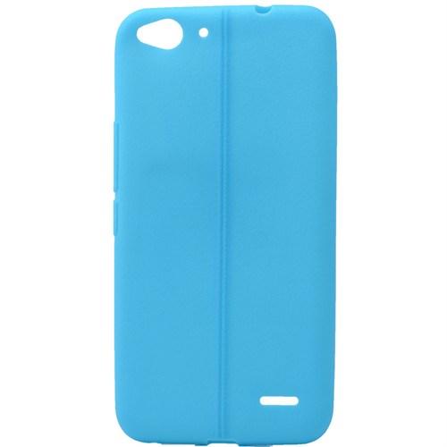 Lopard General Mobile Discovery Kılıf Ribbon İnce Silikon Arka Kapak Mavi