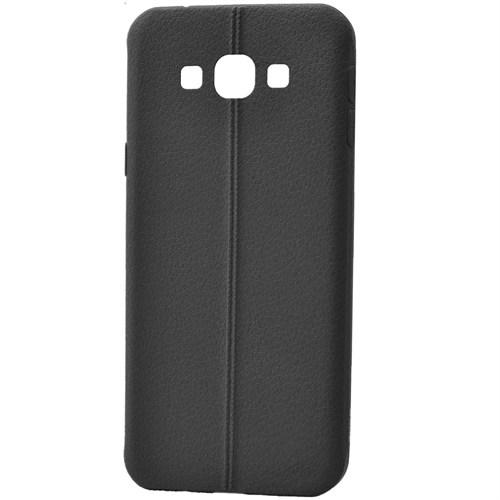 Lopard Samsung Galaxy J7 Kılıf Ribbon İnce Silikon Arka Kapak Siyah