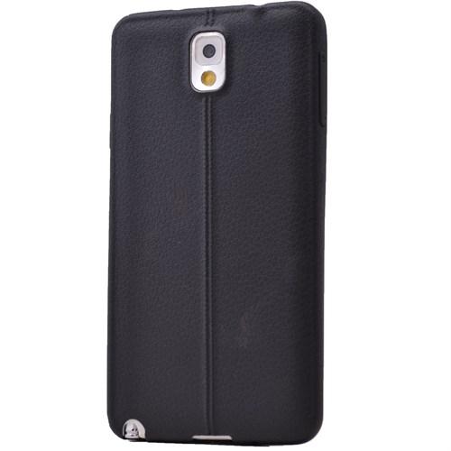 Lopard Samsung Galaxy Note 4 Kılıf Ribbon İnce Silikon Arka Kapak Siyah