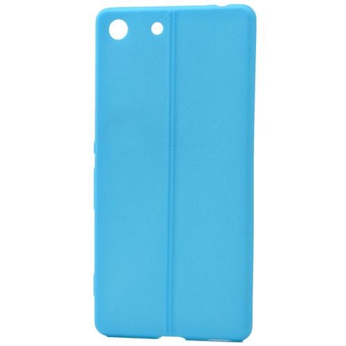 Lopard Sony Xperia M5 Kılıf Ribbon İnce Silikon Arka Kapak Mavi