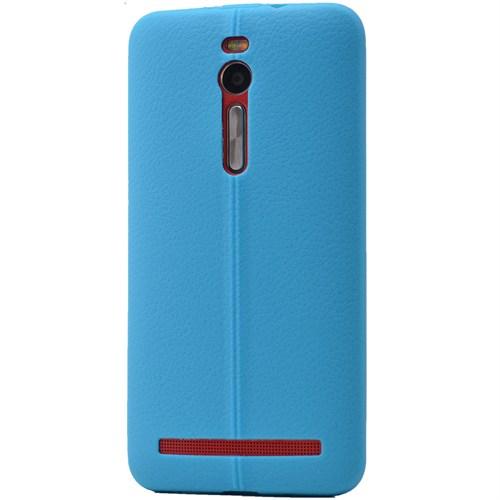Lopard Asus Zenfone 2 Ze500kl Laser Kılıf Ribbon İnce Silikon Arka Kapak Mavi