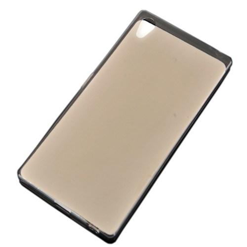 CoverZone Sony Xperia Z5 Compact Kılıf Silikon 0.3Mm İncelikte Antrasit