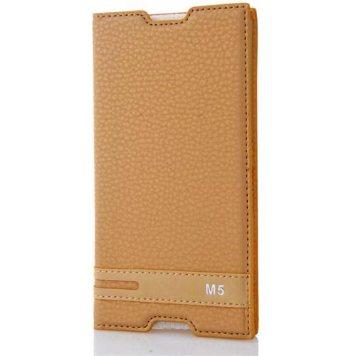 CoverZone Sony Xperia M5 Kılıf Safir Kapaklı Dore