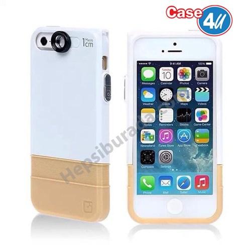 Case 4U Apple iPhone 6 Macro Lensli Kapak Beyaz