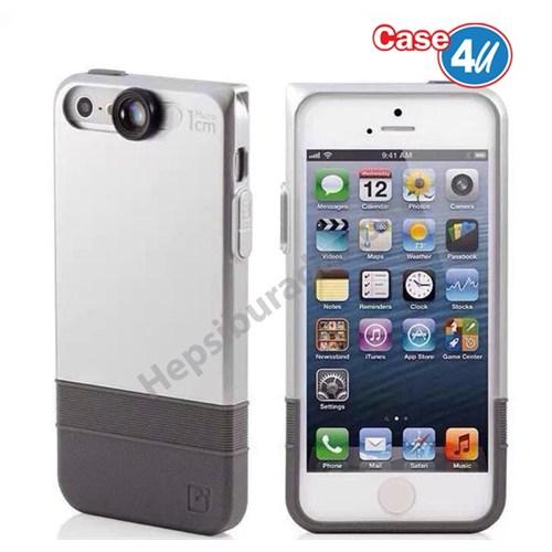 Case 4U Apple iPhone 6S Macro Lensli Kapak Gümüş