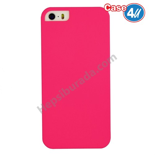 Case 4U Apple İphone 5S Sert Arka Kapak Pembe