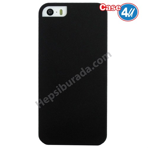 Case 4U Apple İphone 5 Sert Arka Kapak Siyah