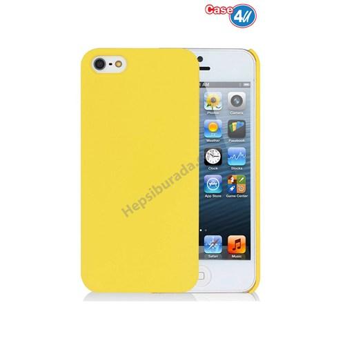 Case 4U Apple İphone 5 Sert Arka Kapak Sarı