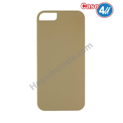 Case 4U Apple İphone 5S Sert Arka Kapak Altın