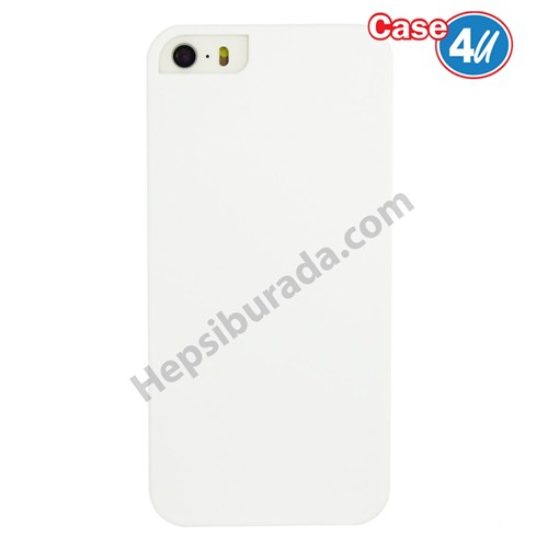 Case 4U Apple İphone 5S Sert Arka Kapak Beyaz