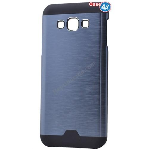 Case 4U Samsung Galaxy E5 Moto Sert Arka Kapak Mavi