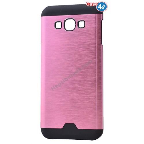 Case 4U Samsung Galaxy E5 Moto Sert Arka Kapak Pembe