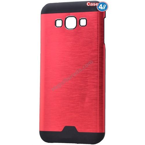 Case 4U Samsung Galaxy E7 Moto Sert Arka Kapak Kırmızı