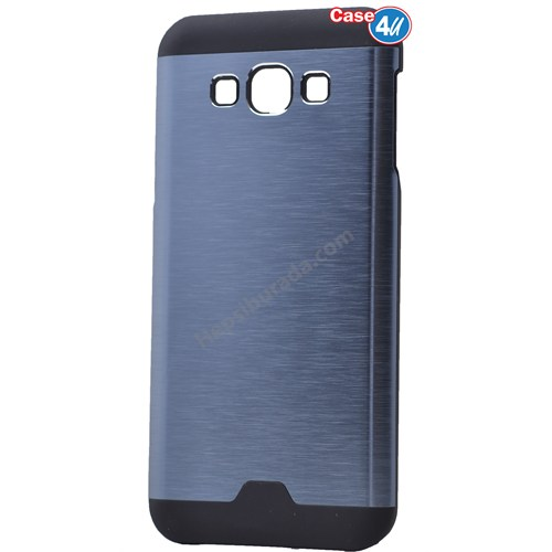 Case 4U Samsung Galaxy E7 Moto Sert Arka Kapak Mavi