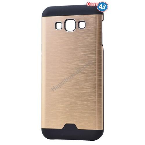 Case 4U Samsung Galaxy J7 Moto Sert Arka Kapak Altın