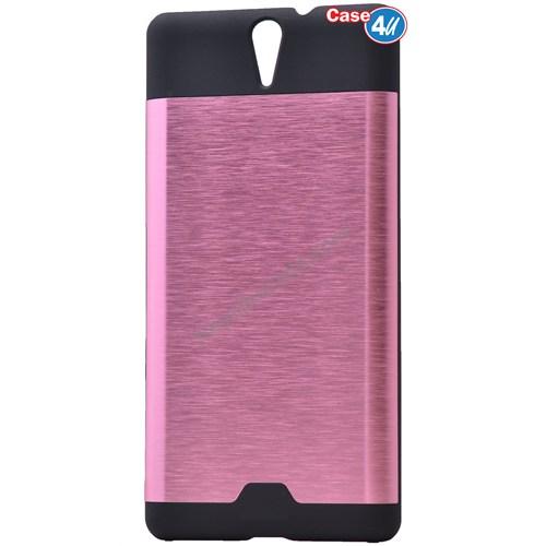 Case 4U Sony Xperia C5 Ultra Moto Sert Arka Kapak Pembe