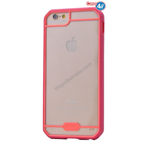 Case 4U Apple İphone 6 Space Silikon Kılıf Pembe