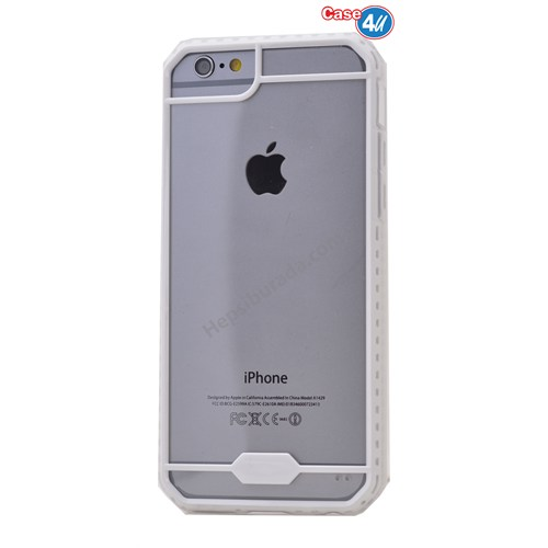Case 4U Apple İphone 6S Space Silikon Kılıf Beyaz