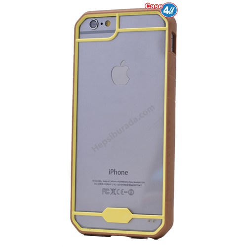 Case 4U Apple İphone 6S Space Silikon Kılıf Sarı