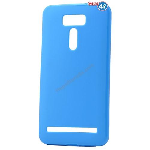 Case 4U Asus Zenfone 2 Laser Ze601kl Ultra İnce Silikon Kılıf Mavi