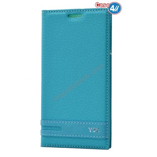 Case 4U Huawei Y5c Gizli Mıknatıslı Kapaklı Kılıf Yeşil