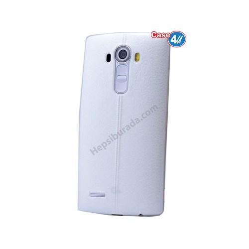 Case 4U Lg V10 Parlak Desenli Silikon Kılıf Beyaz