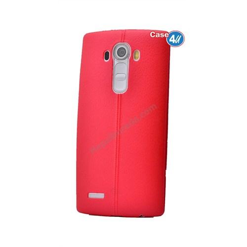 Case 4U Lg G4 Stylus Parlak Desenli Silikon Kılıf Kırmızı