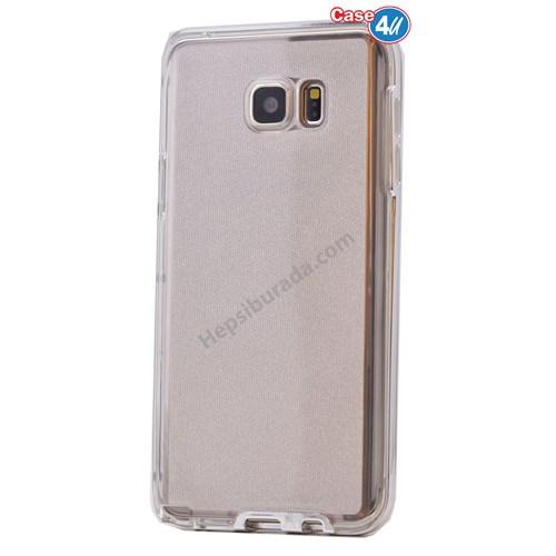 Case 4U Samsung Galaxy Note 5 Çerçeveli Silikon Kılıf Şeffaf