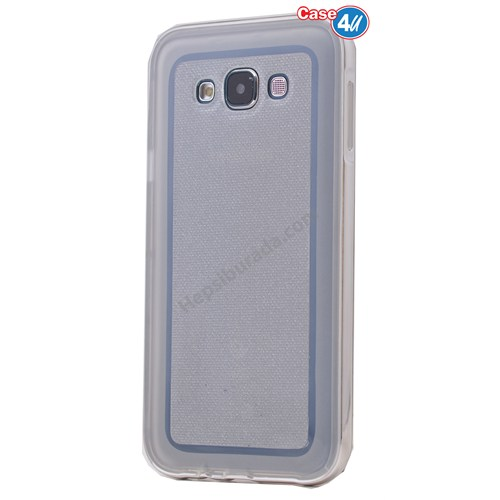 Case 4U Samsung Galaxy J7 Çerçeveli Silikon Kılıf Şeffaf